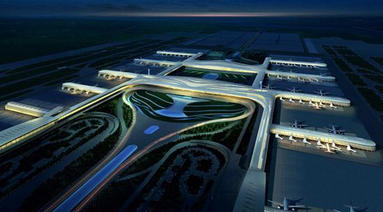 武汉机场三期建设规划效果图 武汉天河国际机场 公共市政高清图片